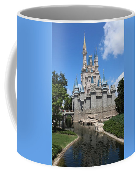 Castle Coffee Mug featuring the photograph Magic Kingdom Cinderella's Castle #2 by Debra K Gallagher