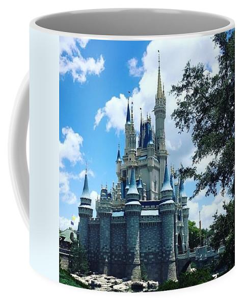 Castle Coffee Mug featuring the photograph Magic Kingdom Cinderella's Castle #3 by Debra K Gallagher