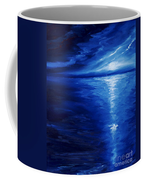 Blue Moon Coffee Mug featuring the painting Magical Moonlight by James Christopher Hill