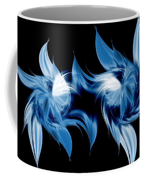 Abstract Coffee Mug featuring the digital art Magical Orchids by Georgiana Romanovna