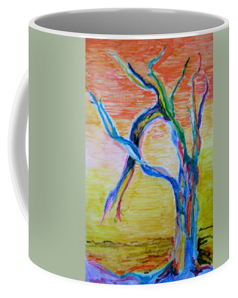 Abstract Painting Coffee Mug featuring the painting Magical Tree by Suzanne Udell Levinger