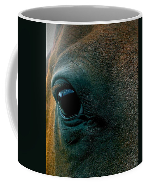 Horse Coffee Mug featuring the photograph Magics Beauty by LKB Art and Photography