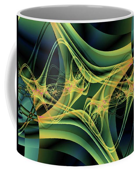 Fractal Coffee Mug featuring the digital art Magnetic by Debra Martelli