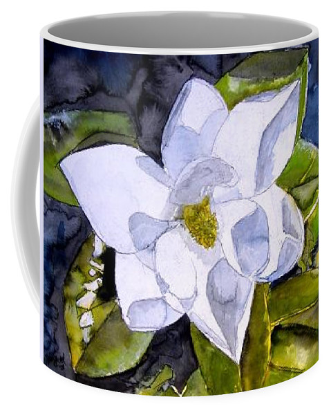 Magnolia Coffee Mug featuring the painting Magnolia 2 Flower Art by Derek Mccrea