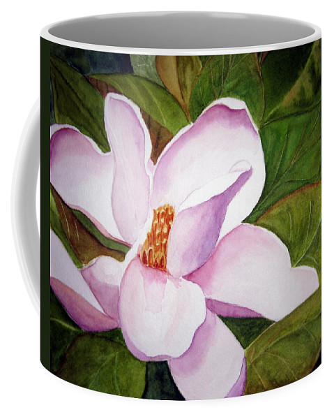 Flower Coffee Mug featuring the painting Magnolia Blossom by Julia RIETZ