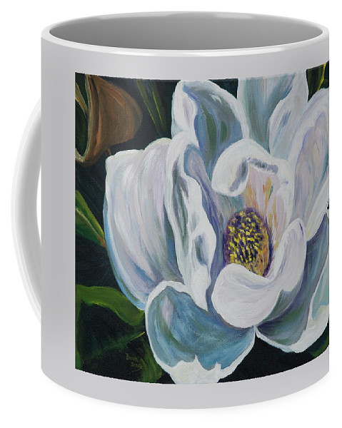 Floral Coffee Mug featuring the painting Magnolia by Donna Drake
