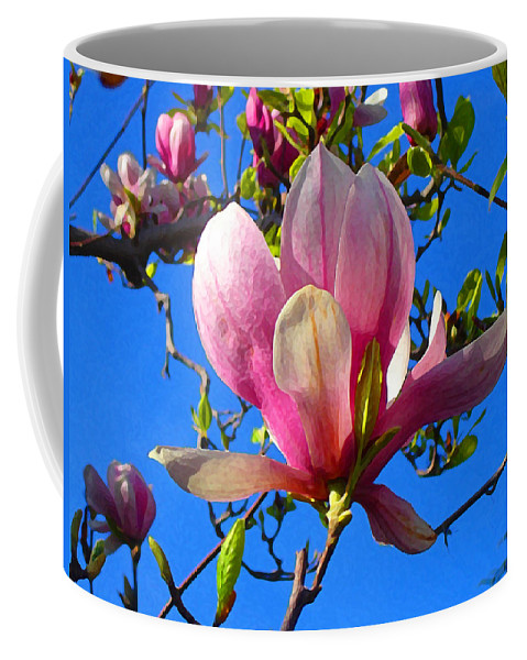 Magnolia Coffee Mug featuring the painting Magnolia Flower by Amy Vangsgard