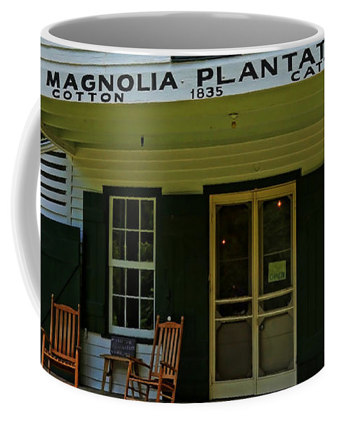 Architecture Coffee Mug featuring the photograph Magnolia Plantation Store by Judy Vincent