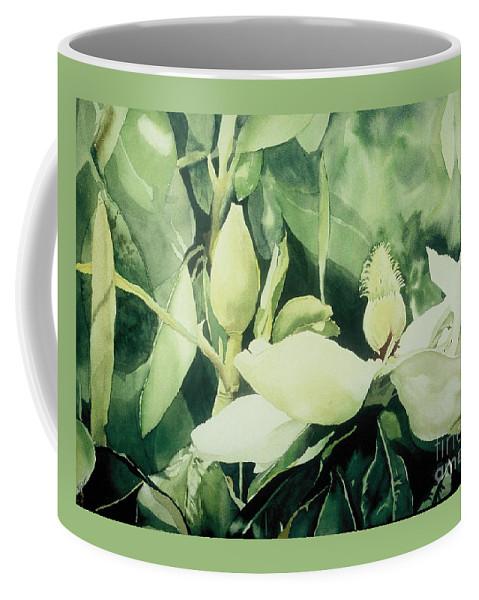 Magnolias Coffee Mug featuring the painting Magnolium Opus by Elizabeth Carr