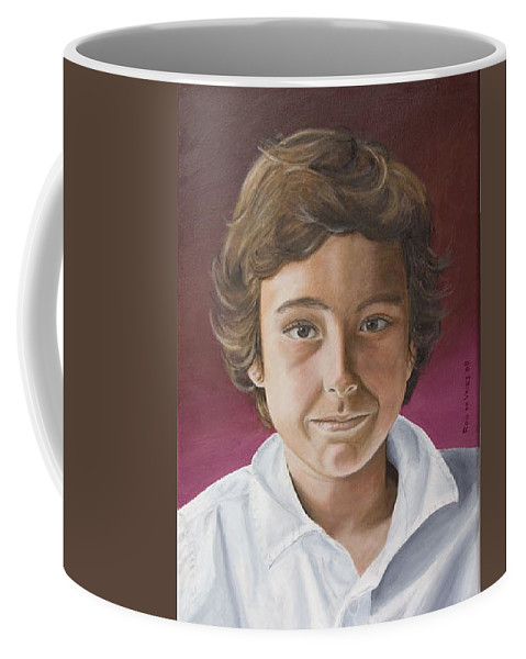 Portrait Coffee Mug featuring the painting Magnus by Rob De Vries