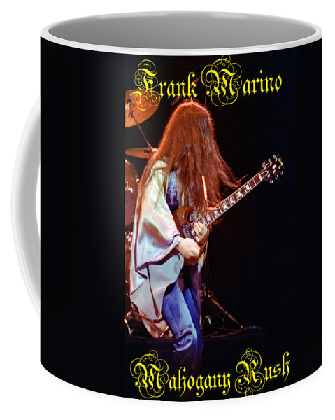 Frank Marino Coffee Mug featuring the photograph Mahogany Rush Seattle #2 With Text by Ben Upham