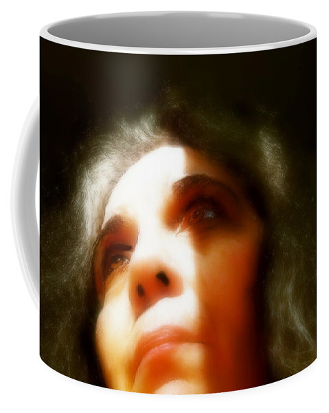 Portrait Coffee Mug featuring the painting Maid Of Constant Sorrow  Self-portrait by RC DeWinter