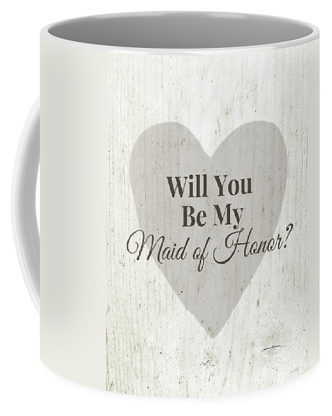 Maid Of Honor Coffee Mug featuring the digital art Maid Of Honor Rustic- Art By Linda Woods by Linda Woods