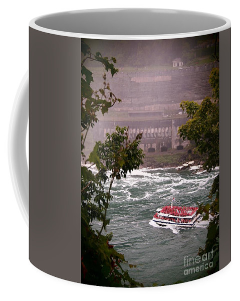 Canada Coffee Mug featuring the photograph Maid Of The Mist Canadian Boat by Jennifer Craft