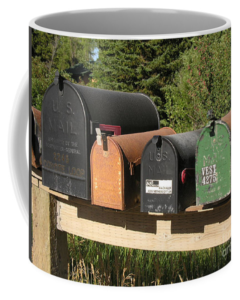 Mail Coffee Mug featuring the photograph Mail Seakers by Diane Greco-Lesser