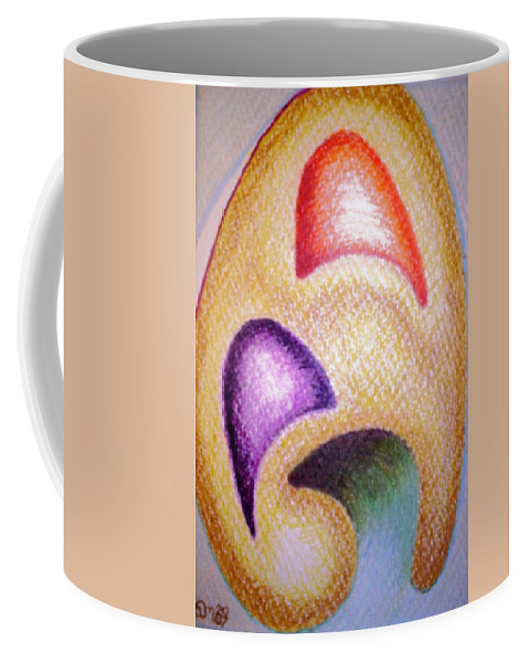 Abstract Coffee Mug featuring the drawing Mailed To You by Suzanne Udell Levinger