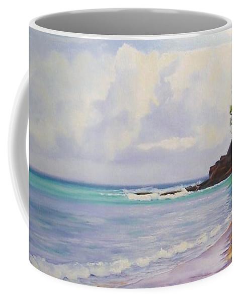 Seascape Coffee Mug featuring the painting Main Beach Noosa Heads Queensland Australia by Chris Hobel