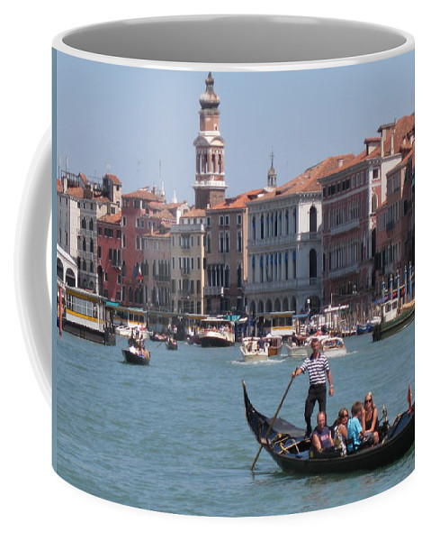 Venice Italy Coffee Mug featuring the photograph Main Canal Venice Italy by John Malone