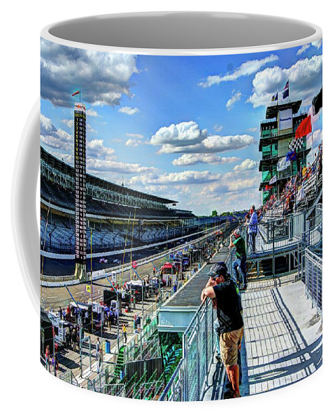 Indy 500 Coffee Mug featuring the photograph Main Straight by Josh Williams