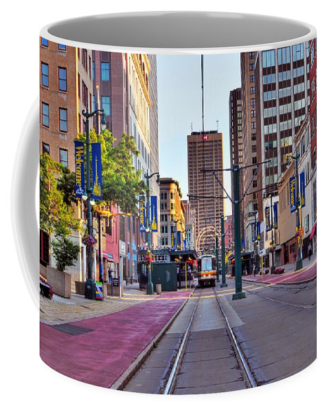 Building Coffee Mug featuring the photograph Main Street by Kathleen Struckle