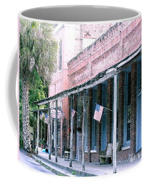 Florida Coffee Mug featuring the photograph Main Street Micanopy Florida by Nelson Strong