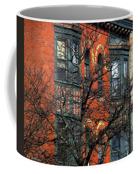 Bricks Coffee Mug featuring the painting Main Street Middletown On A Sunny Spring Day by RC DeWinter