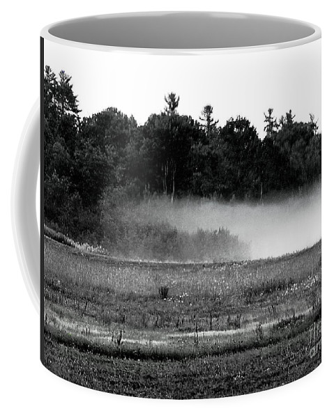 Black And White Landscape In Maine Coffee Mug featuring the photograph Maine Fog Rolls In by Expressionistart studio Priscilla Batzell