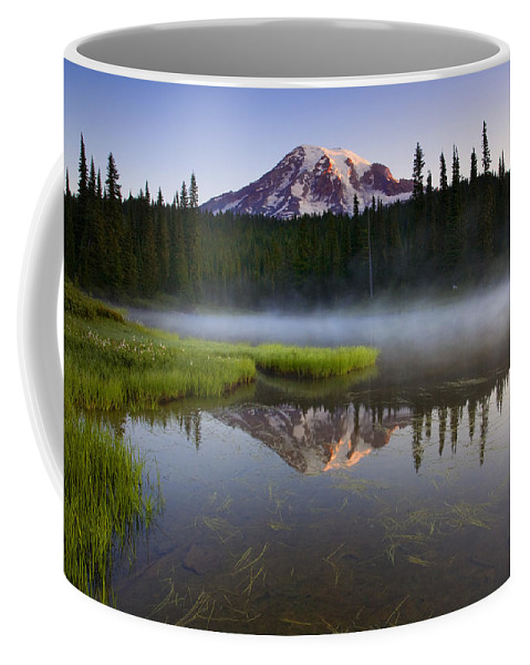 Lake Coffee Mug featuring the photograph Majestic Dawn by Mike Dawson