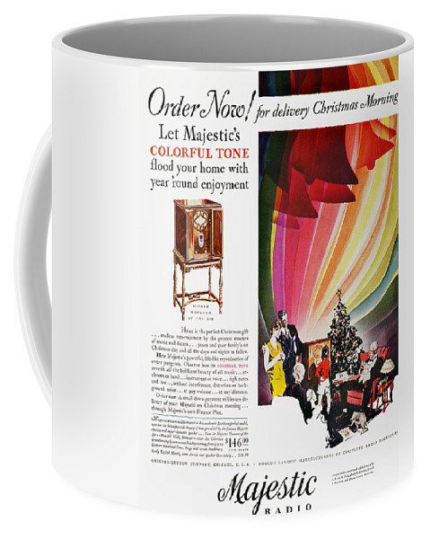 1929 Coffee Mug featuring the photograph Majestic Radio Ad, 1929 by Granger