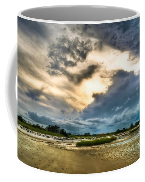 Beach Coffee Mug featuring the photograph Majestic Sky by Rich Leighton