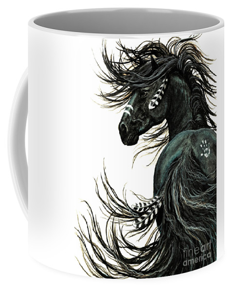 Horse Coffee Mug featuring the painting Majestic Spirit Horse II by AmyLyn Bihrle