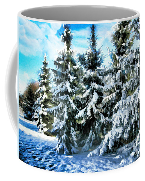 New England Coffee Mug featuring the photograph Majestic Winter In New England by Judy Palkimas