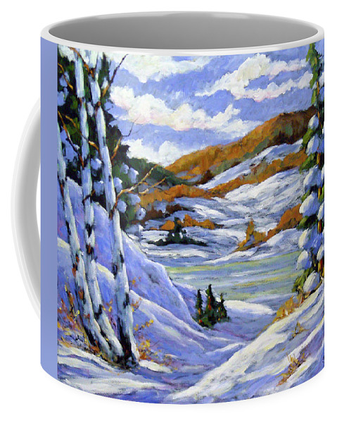 Art Coffee Mug featuring the painting Majestic Winter by Richard T Pranke