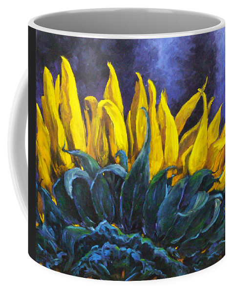 Flower Coffee Mug featuring the painting Majestica by Richard T Pranke