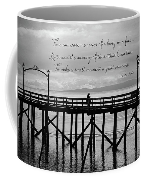Make A Small Moment A Great Moment Coffee Mug featuring the photograph Make A Small Moment A Great Moment - Black And White Art by Jordan Blackstone