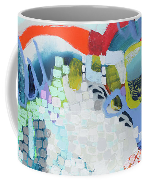 Abstract Coffee Mug featuring the painting Make Some Noise by Claire Desjardins