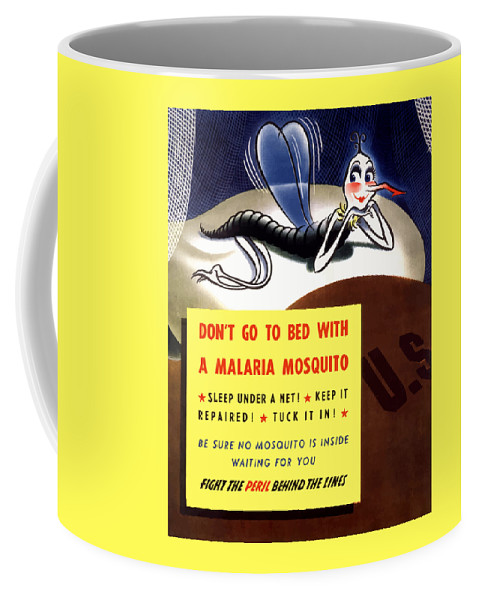 Mosquito Coffee Mug featuring the painting Malaria Mosquito by War Is Hell Store