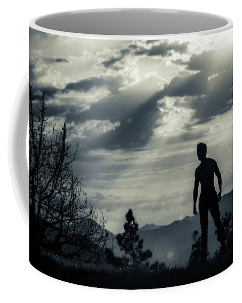 Male Coffee Mug featuring the photograph Male Model by Christian Flores