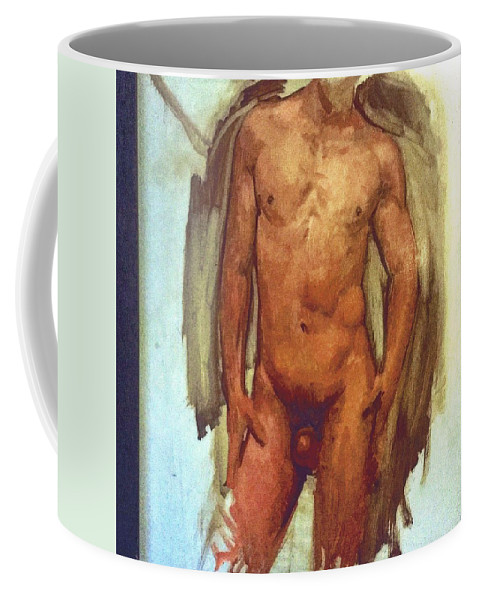 Michaellane Coffee Mug featuring the painting Male Torso Study by Michael Lane