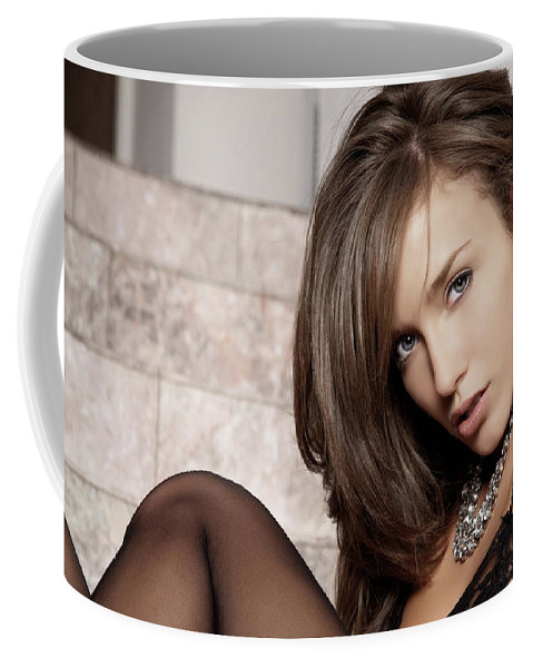 Malena Morgan Coffee Mug featuring the digital art Malena Morgan by Bert Mailer