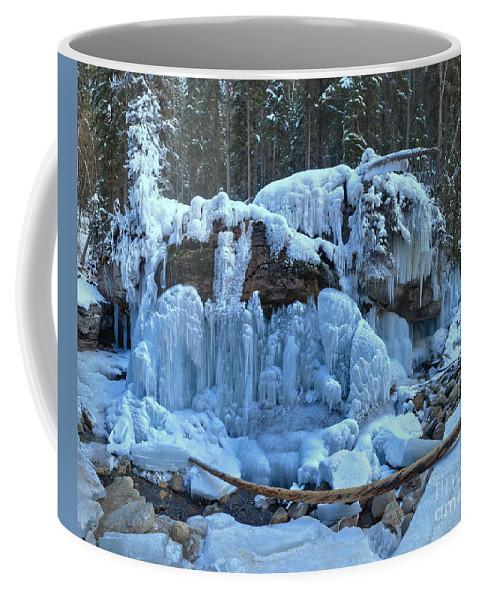 Maligne Canyon Coffee Mug featuring the photograph Maligne Canyon Winter Wonders by Adam Jewell