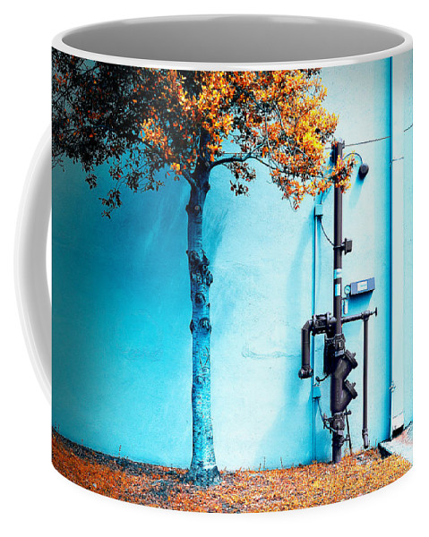 Grunge Coffee Mug featuring the photograph Mall Pipe by Steven Hlavac