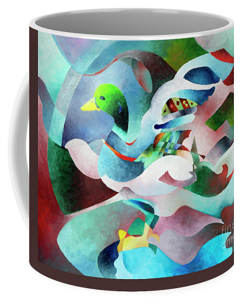 Duck Coffee Mug featuring the painting Mallard by Sally Trace