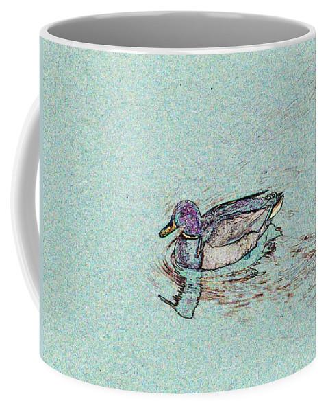 Mallard Coffee Mug featuring the photograph Mallards Edge by Tim Allen