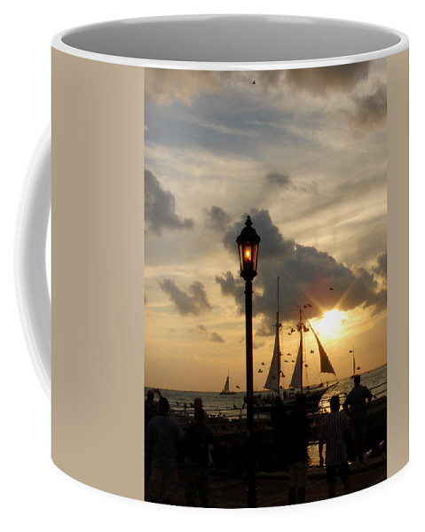 Photography Coffee Mug featuring the photograph Mallory Square Key West by Susanne Van Hulst