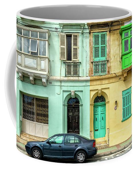 Europe Coffee Mug featuring the digital art Maltase Style Doors And Windows by Tsafreer Bernstein