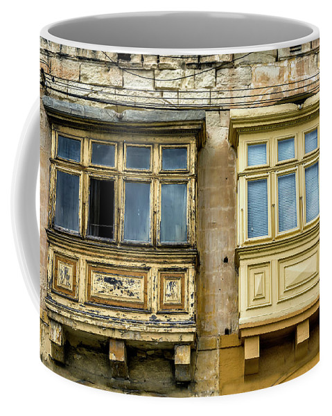 Europe Coffee Mug featuring the digital art Maltase Style Windows by Tsafreer Bernstein