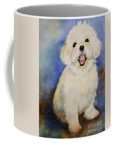 Maltese Dog Coffee Mug featuring the painting Maltese Named Ben by Marilyn Jacobson