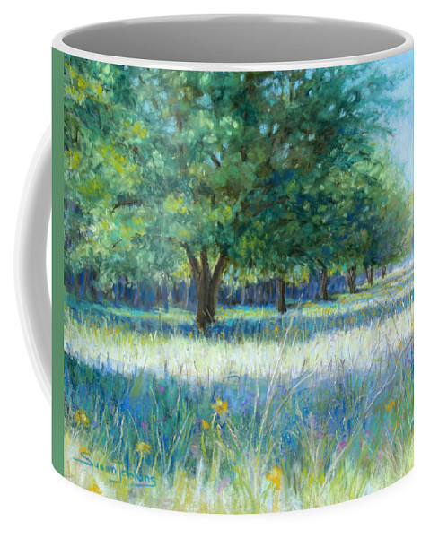 Landscape Coffee Mug featuring the pastel Mama's Day by Susan Jenkins