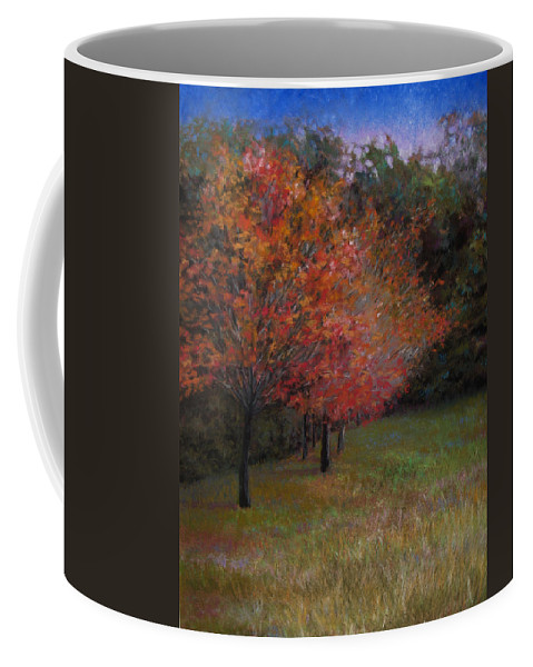 Landscape Coffee Mug featuring the painting Mama's Dogwoods by Susan Jenkins
